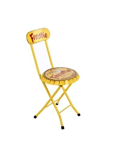 Vitale Vıntage Frostıe Sarı Metal Sandalye Sarı